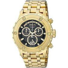 Invicta 14468 Men's Subaqua Reserve Black Dial Gold Plated Steel Bracelet Chrono