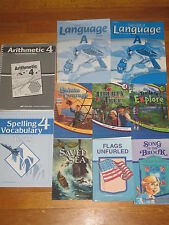 Abeka Grade 4 book lot Readers Arithmetic Curriculum Language 4th Spelling