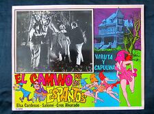 """VIRUTA Y CAPULINA """"EL CAMINO DE LOS ESPANTOS"""" CHESPIRITO N MINT LOBBY CARD PHOTO"""