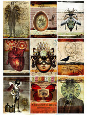 9 Steampunk Life Vintage Gothic Hang Tags Scrapbooking Paper Crafts (124)