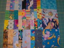"40 - 4 1/2"" cotton fabric squares, brights and kids as seen in the pic SQ1613"