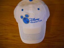 NEW DISNEY VACATION CLUB WHITE CAP  WITH BLUE NEW LOGO EMBROIDERED  Fast Ship!