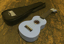 Mahalo Light Blue Soprano Ukulele / Uke Fitted With Aquila Strings & Case
