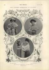 1905 Miss Dora Barton And Miss Olive May Younger Generation Of Players