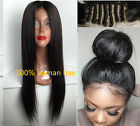 Silk Straight 100% Remy Human Hair Lace Front /Full Lace Wig Baby Hair Around
