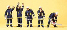 HO 1:87 Preiser 10486 German Firemen Firefighters ( Technical Support ) Figures