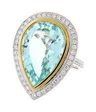 17.13ct  Natural Paraiba Tourmaline GIA Certified! RARE!18K White Gold