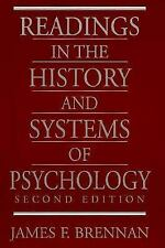 Readings in the History and Systems of Psychology by James F. Brennan (1997,...