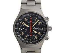 Pre-Owned SINN 144.GMT Men's Titanium Black Automatic Watch, MD