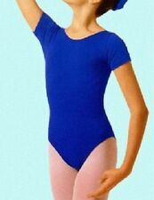 Mondor 496 Women's Size Medium (8-10) Royal Blue Short Sleeve Leotard