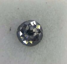0.31TCW 3.7mm Round Rose cut Jet Black Color Loose Natural Diamond for earring