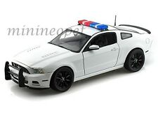 COLLECTIBLES SC463 2013 FORD MUSTANG BOSS 302 1/18 POLICE CAR UNMARKED WHITE