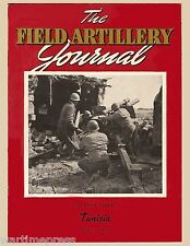 """Lot of 10 Postcards Cover of Field Artillery Journal """"A 105mm in Action"""" Tunisia"""