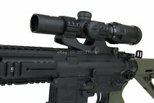 TacFire 1-4 X 24mm Tactical Illuminated Mil-Dot Rifle Scope w/ Cantilever Mount