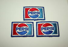 3 Vintage Pepsi Cola Pepsi-Cola Soda Distributor Shirt Cloth Patch 1980s