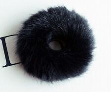 Faux Rabbit Fur Hair Band Elastic Bobble Scrunchie Hair Accessories 1PC Black
