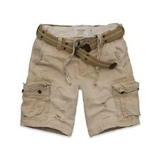 NEW ABERCROMBIE & FITCH for MEN * A&F CARGO SHORTS with Belt * Khaki * Size 30