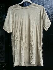 Wool Tshirt Fire & Odor Resistant Biege Size Large - 2nd quality