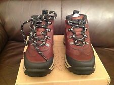 BOYS CHILDRENS OUTDOOR TIMBERLAND BACK ROAD HIKER BROWN LEATHER MID BOOTS uk 6.5