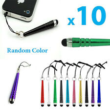 2016 NEW 10Pcs Metal Stylus Screen Touch Pen Dust Plug For iPhone iPad Tablet LG