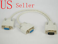 DOUBLE VGA SPLIT SIGNAL CABLE LEAD WIRE TO VIEW MONITOR