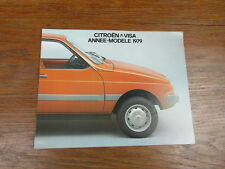 AUTOMOBILE BROCHURE CATALOG SALES CATALOGUE : CITROEN VISA ANNEE MODELE 1979