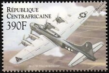 WWII Boeing B-17 Flying Fortress Aircraft Stamp (2000 Central African Republic)