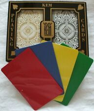 2 Deck Set KEM Arrow Black Gold Bridge Jumbo Index Playing + 2 Cut Cards Narrow