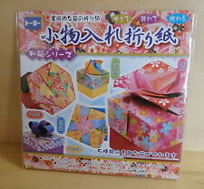 5 Types Small Boxes Kit Japanese Origami  Folding Paper amd manual