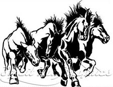 Horse Horses Running Rear Window Graphic Decal Truck SUV Trailer Colors Avail