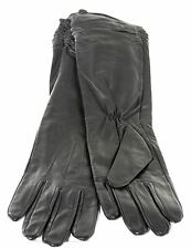 Ladies Real Leather Long Black Casual Fashion Driving Gloves Size S NEW