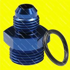AN6 Male Flare to AN8 ORB O-ring Boss Straight Fitting Adapter Blue - Warranty