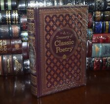 A Treasury of Classic Poetry Poe Shakespear Frost Dickinson LeatherBound Sealed