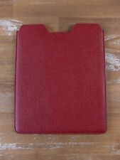 auth BALLY red leather iPad tablet sleeve cover accessory slipcase - NWOT