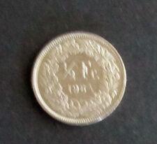 Münze 1/2 Schweizer Franken 1984 aus Umlauf gültiges Zahlungsmittel Sammler