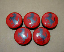 Ferrari red center wheel rim caps set f1 spider logo rot rad kappen 360 430 458