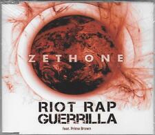 """ZETHONE FEAT. PRIMO BROWN - RARO CDs RAP CELOPHANATO """" RIOT RAP GUERRILLA """""""