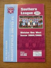 30/08/2004 Mangotsfield United v Cinderford Town  (Good Condition)