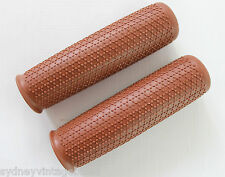 PAIR LADIES MENS Bike GRIPS Vintage Bicycle Retro Style QUALITY comfort brown