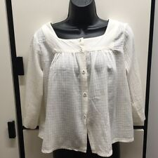 JOURNAL STANDARD FREE SIZE LUXE OFF WHITE COTTON WOOL CROPPED TOP