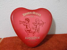 """COLLECTABLE  """"BROWN & HALEY""""  HEART SHAPED """" ALMOND ROCA"""" CANDY TIN"""
