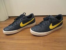 Used Worn Size 13 Nike Sweet Classic Leather Shoes Blue Yellow White