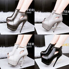 Europe Women's Platform Shoes Sexy Stiletto Peep-toe Nightclub High Heels Shoes