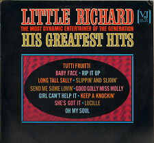 """LITTLE RICHARD """"HIS GREATEST HITS"""" ROCK AND ROLL LP VEE JAY 1124 PROMO 1965"""