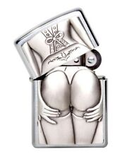 "ZIPPO ""STOCKING GIRL WOMAN"" 3D SEXY NUDE BOTTOM BUTT TRICK LIGHTER /1300116 wBOX"
