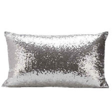 Cushion Covers Solid Glitter Sequins Throw Pillow Home Car Sofa Decor 7 Colors