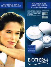 PUBLICITE ADVERTISING 085  1996  BIOTHERM   les cosmétiques anti-rides
