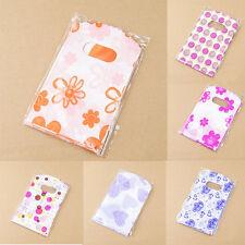 100pcs Wholesale Lot Pretty Mixed Pattern Plastic Gift Bag Shopping Bag 14X9 TOU