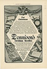 1906 Dennison Christmas Novelties Ad Tags Gift Boxes Cards Decorations Xmas