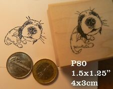 P80 puppy kisses rubber stamp WM